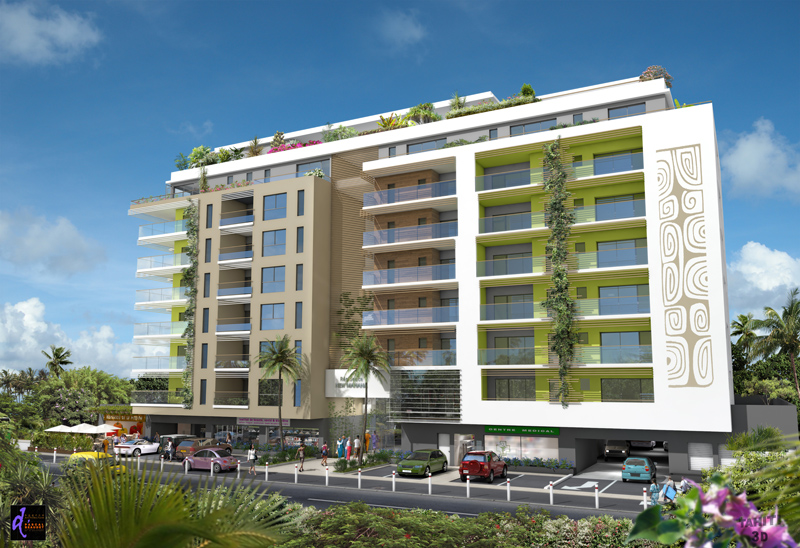 résidence new mahana papeeet atike immobilier tahiti location appartements