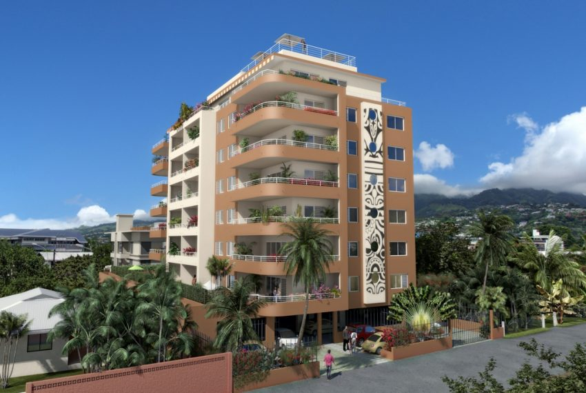pirae location appartement atike immobilier tahiti agence immobiliere polynesie francaise residence  te noha iti